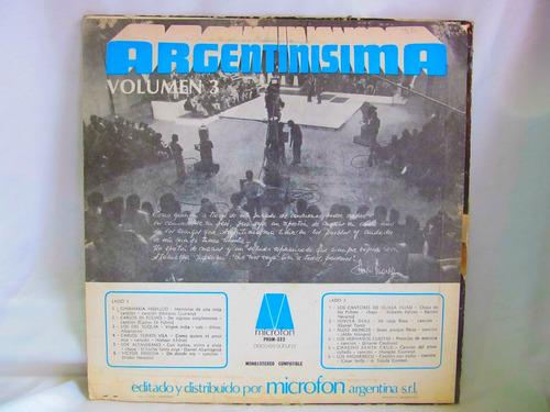 el arcon lp vinilo argentinisima volumen 3