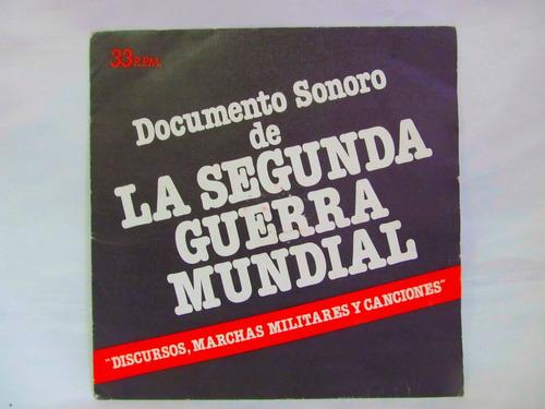 el arcon lp vinilo documento sonoro de la 2da guerra mundial