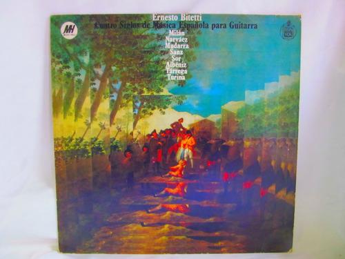 el arcon lp vinilo ernesto bitetti musica española guitarra