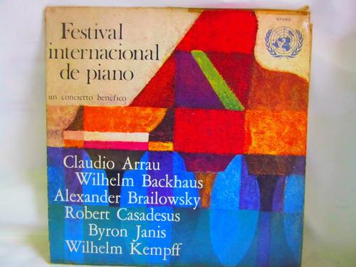 el arcon lp vinilo festival internacional de piano un concie