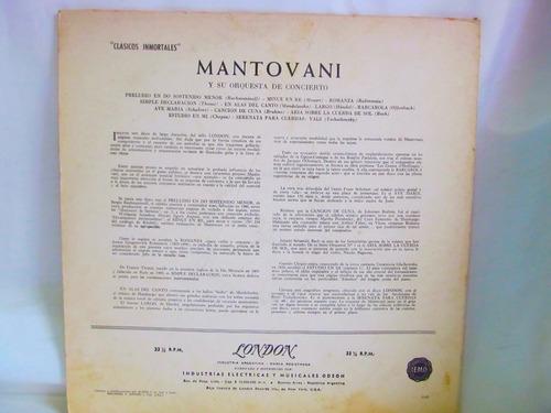 el arcon lp vinilo mantovani y orquesta clasicos inmortales