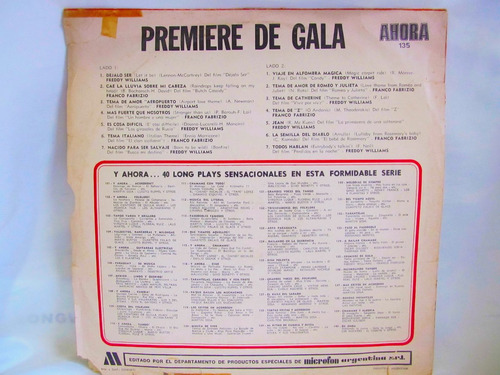 el arcon lp vinilo musica de peliculas famosas premiere gala
