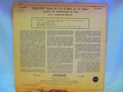 el arcon lp vinilo tschaikowsky sinfonia patetica cons paris