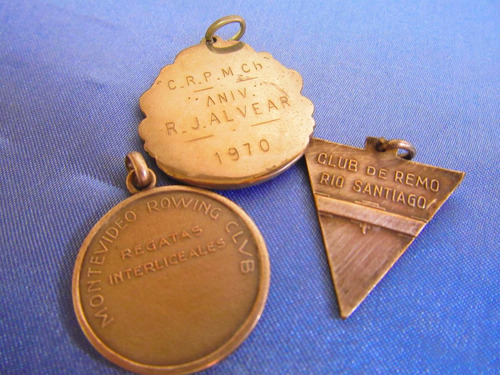 el arcon medalla deporte remo varias lote x 3 380 10