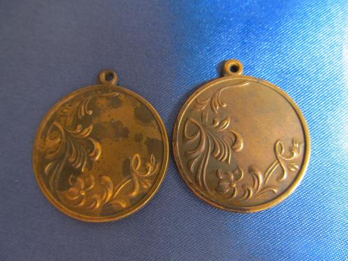 el arcon medallas dijes para grabar circulo c/ flores 381 60