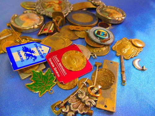 el arcon medallas religiosa virgen mediana lote x 3 380 79
