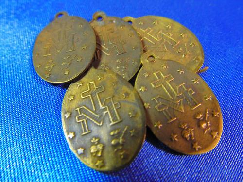 el arcon medallas religiosa virgen milagrosa lote x 5 380 72