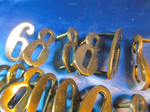 el arcon numeros de metal plateado a eleccion 7cm 41054