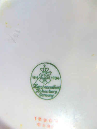el arcon pandal de platos hutschenreuther germany 16cm 1020