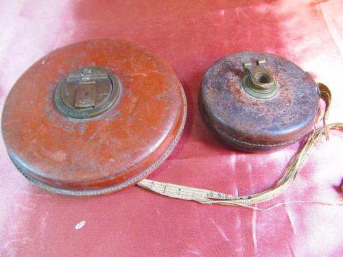 el arcon par de antiguas cintas metricas importadas 27501
