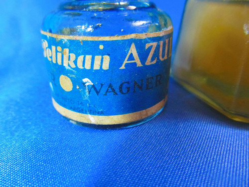 el arcon par de antiguos frascos de cola y tinta pelikan 925