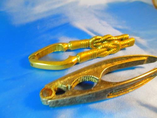 el arcon par de antiguos rompenueces de bronce y metal 52057