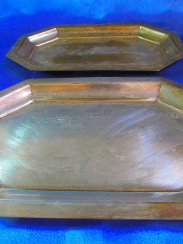 el arcon par de bandejas de plata toledo 15055