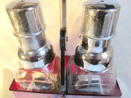 el arcon par de botellones de cristal con pico art deco 903