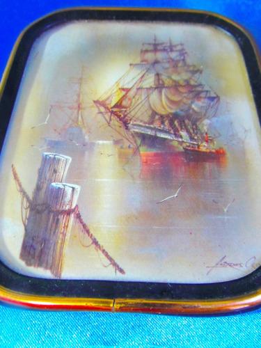 el arcon par de camafeo circular y cuadro marco metal  3521
