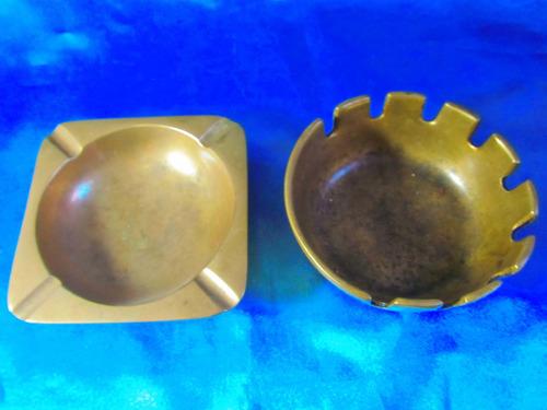 el arcon par de ceniceros bronce labrado 10,5 y 10,3cm 18066