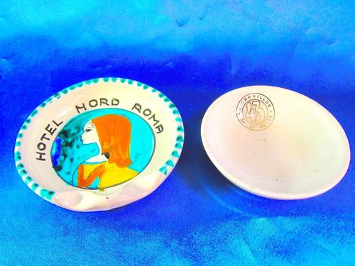 el arcon par de ceniceros ceramica italia y saar basin 19107