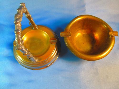el arcon par de ceniceros de bronce labrados  43059