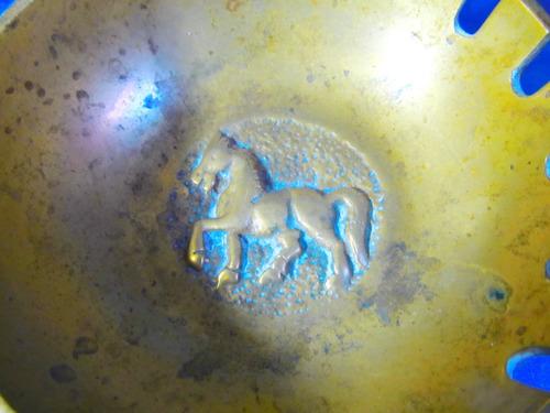 el arcon par de ceniceros de bronce labrados caballo 17053