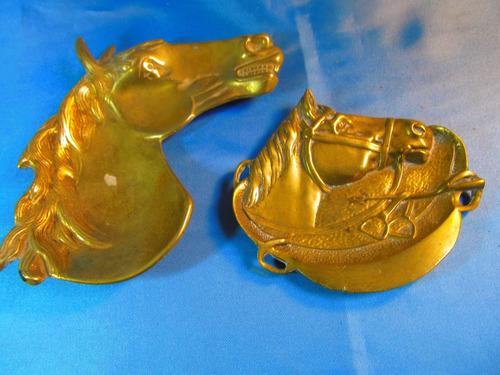 el arcon par de ceniceros de bronce motivo caballo 53502