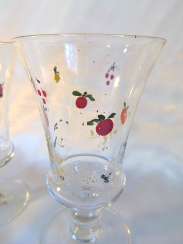 el arcon par de copas de cristal para licor  de 10 cm 561