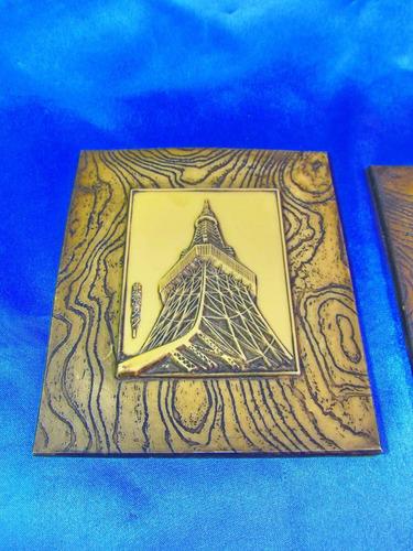 el arcon par de cuadros en marfilina sellados 13x15cm 25112