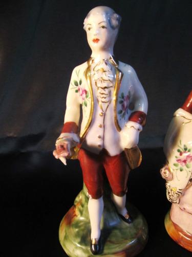 el arcon par de figuras de porcelana dama y caballero 12062