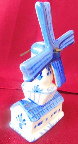 el arcon par de figuras porcelana delft molino musicos 3003