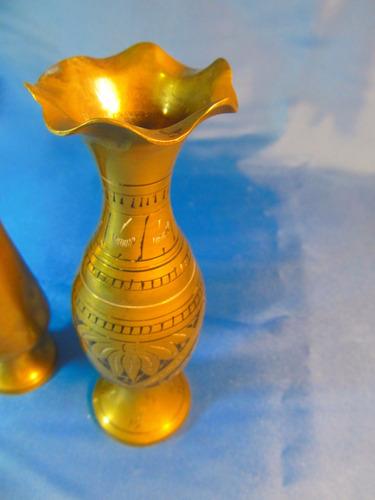 el arcon par de floreros de bronce 49059