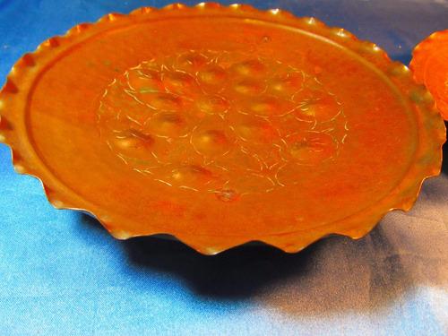 el arcon par de platos de cobre labrados a mano 33064