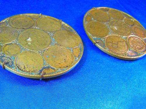 el arcon par de platos para colgar bronce 8,9cm 11547