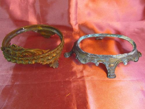 el arcon par de soportes de metal labrado 13cm 69506