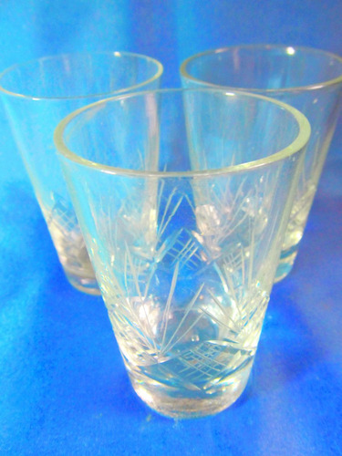 el arcon par de vasos para licor tequila cristal tallado 023