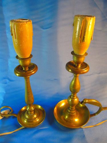 el arcon par de veladores de bronce 30cm 8538