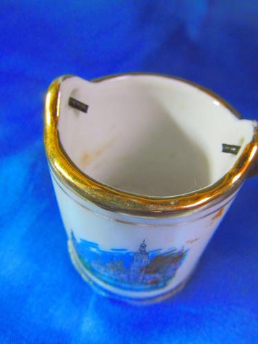 el arcon pequeño jarron porcelana con asa 5,5cm 28119