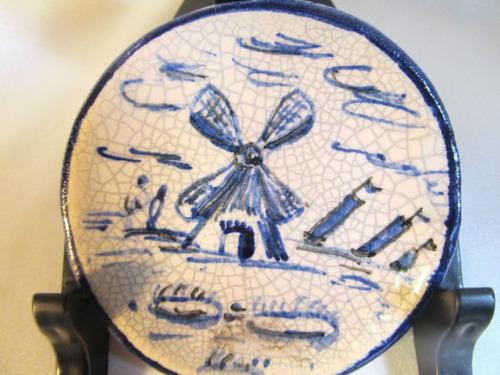 el arcon pequeño plato miniatura de ceramica estilo holandes