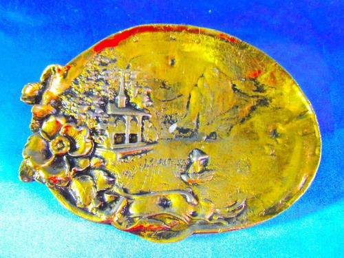 el arcon placa bronce cincelada con paisaje p/colgar 4507