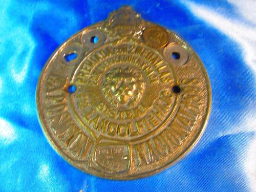 el arcon placa de bronce circular premio landolfi 57507