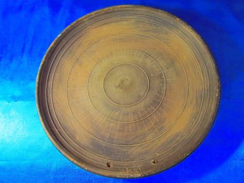 el arcon plato artesanal de madera labrado en relieve 17076