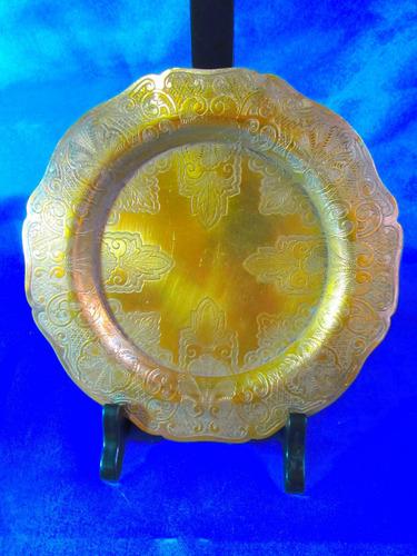 el arcon plato bronce baño de plata rep sheffield 16cm 2506