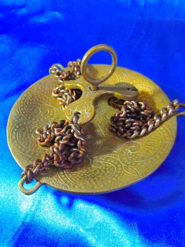 el arcon plato de bronce colgante p maceta o balanza  18072