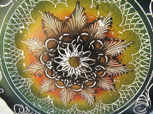 el arcon plato de ceramica decorado  a mano 19,5cm 12018