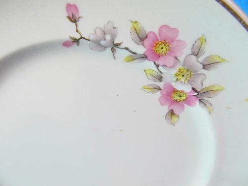 el arcon plato de porcelana hartford borde oro 18,5 cm 11055
