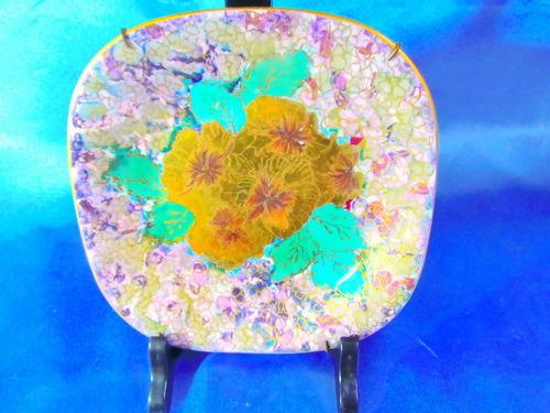 el arcon plato de porcelana verbano borde oro 13,5cm 10105