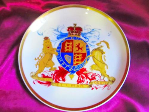 el arcon plato porcelana irmgartt pintado a mano 24 cm 5121