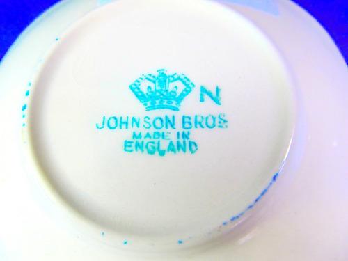 el arcon plato porcelana made in england johnson bros 12109