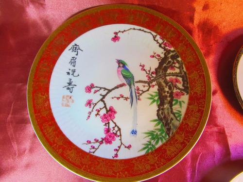 el arcon platos decorativos porcelana tsuji 4 modelos 50509