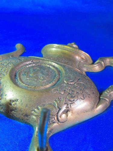 el arcon portallaves llavero de bronce motivo tetera 13065