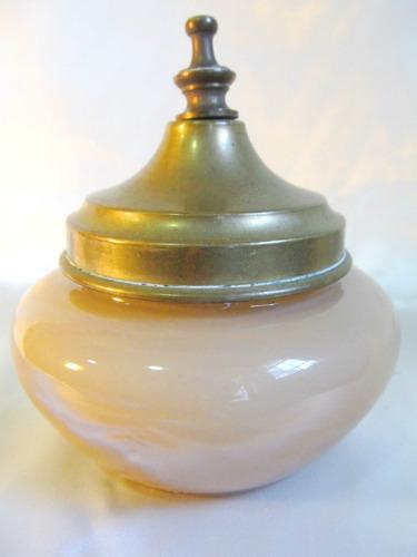 el arcon potiche caramelera cristal tapa bronce 14cm 910