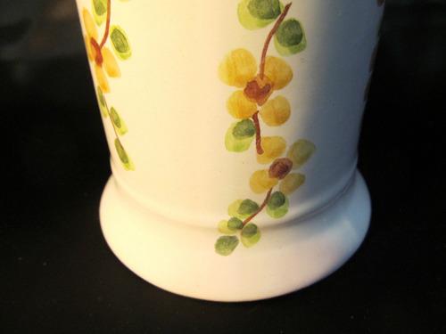 el arcon potiche talquera algodonera de ceramica 20 cm 12051